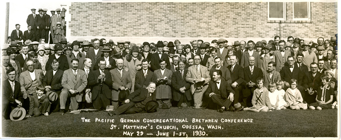 The Pacific German Congregational Brethren Conference at St. Matthews Church in Odessa, Washington from May 29 to June 1, 1930.
