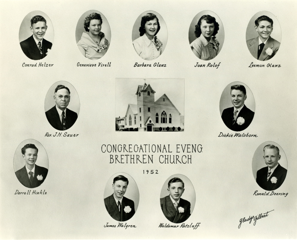 German Evangelical Congregation Brethren Church Confirmation Class of 1952