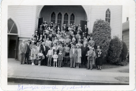 Ebenezer church group in the 1940s