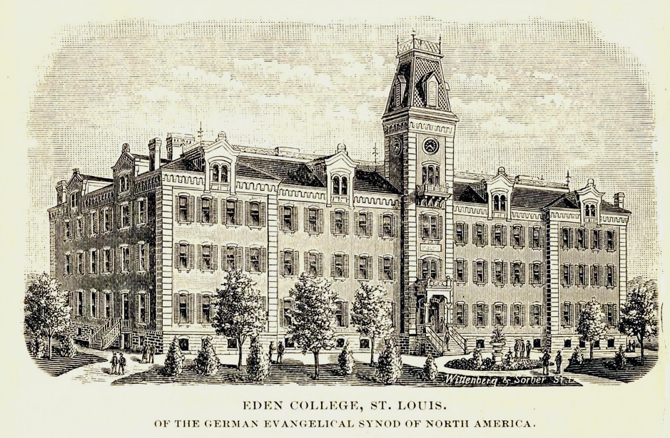 1889 drawing of the Eden College of the German Evangelical Synod of North America