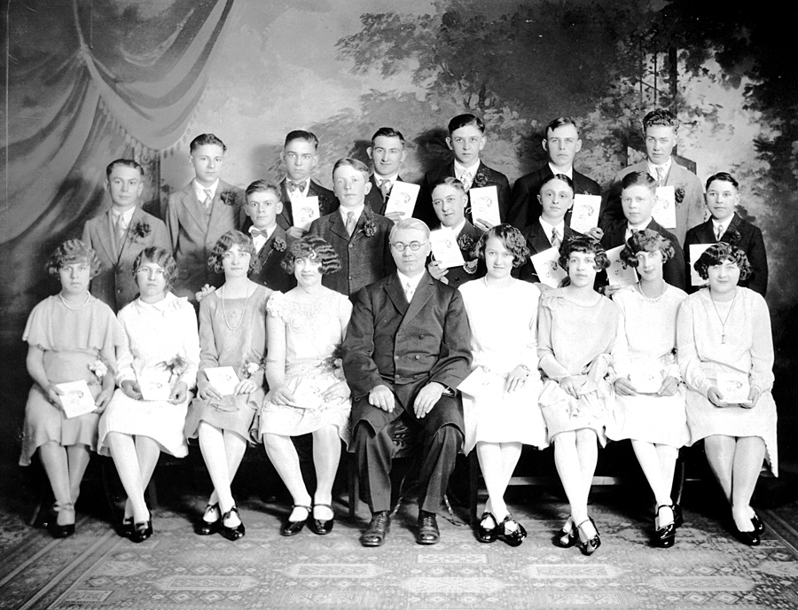 German Evangelical Congregation Brethren Church Confirmation Class of 1928