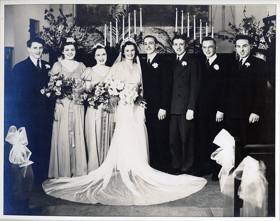 The wedding of August Erdman and Dorothy McIntyre