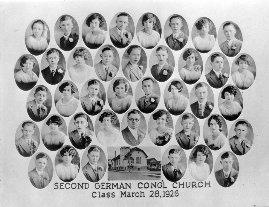 Second German Congregational Church Confirmation Class of March 28, 1926