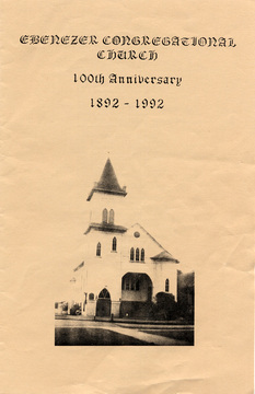 Cover of the Ebenezer 100th Anniversary booklet