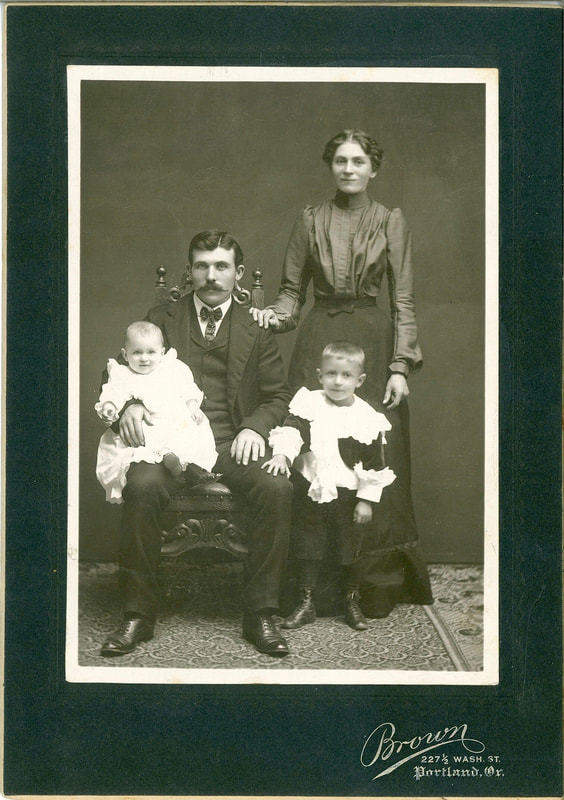 Adam and Christina Gabel with their children Helen and William.