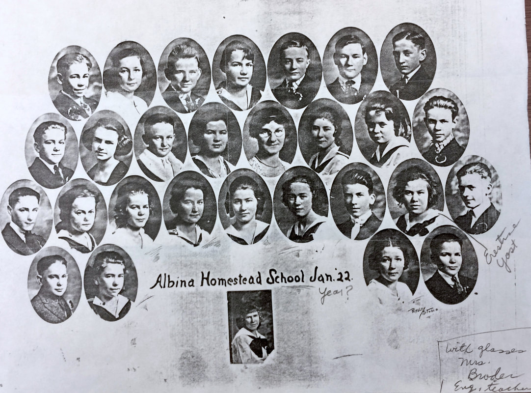 Albina Homestead School Class of January 1922.