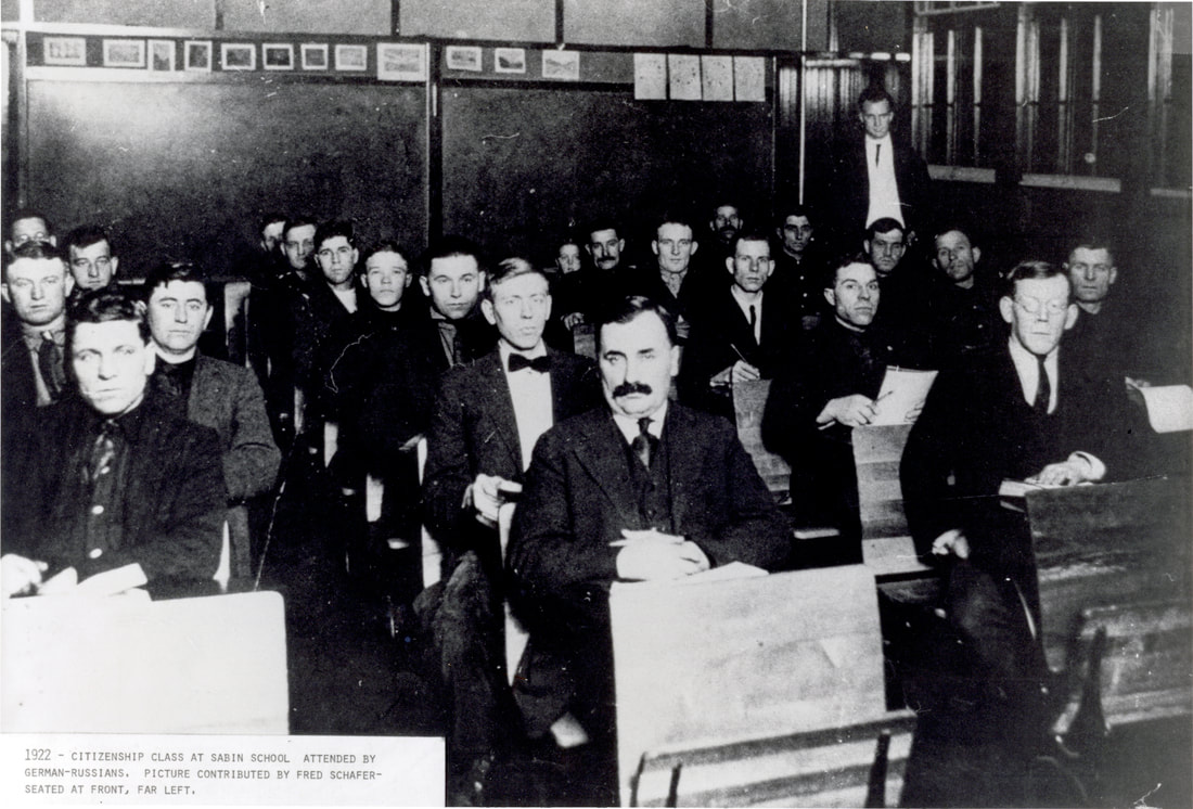 1922 Citizenship Class held at Sabin School