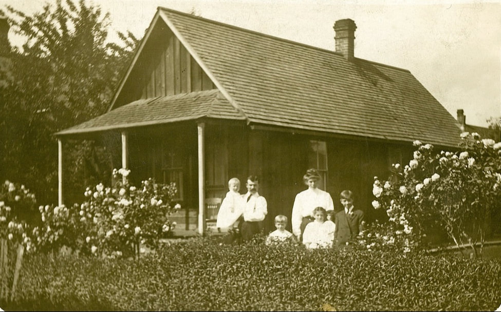 Adam and Christina Gabel at their first home on NE 6th circa 1910
