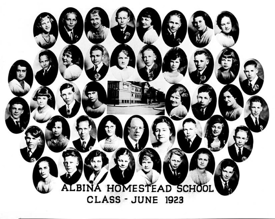 An Albina Homestead School class photograph from 1923
