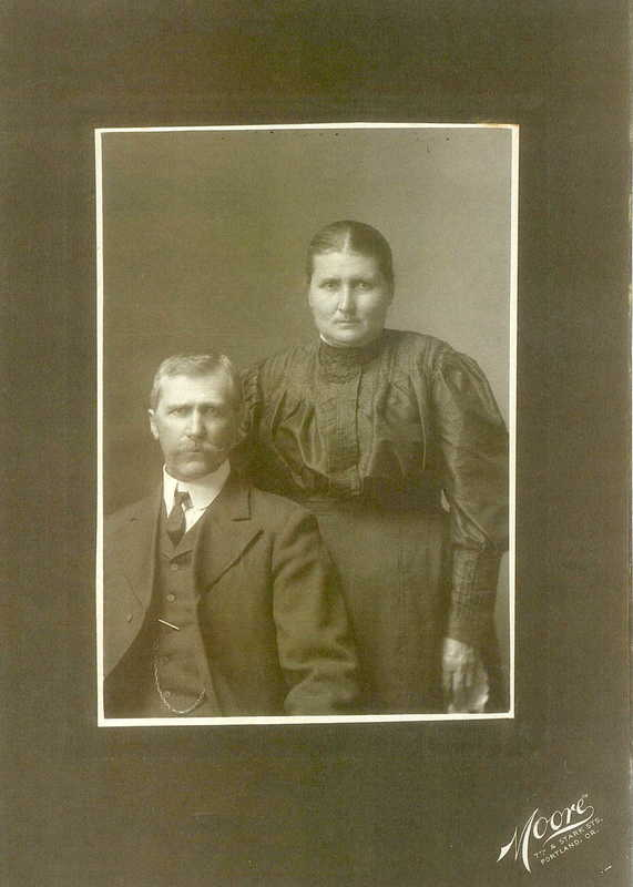 Portrait of George and Lizzie Krieger taken in Portland.