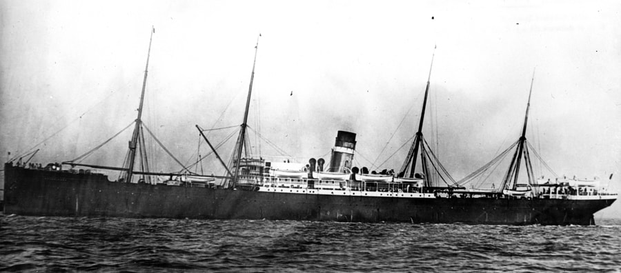 The steamship Kensington of the Dominion Line.