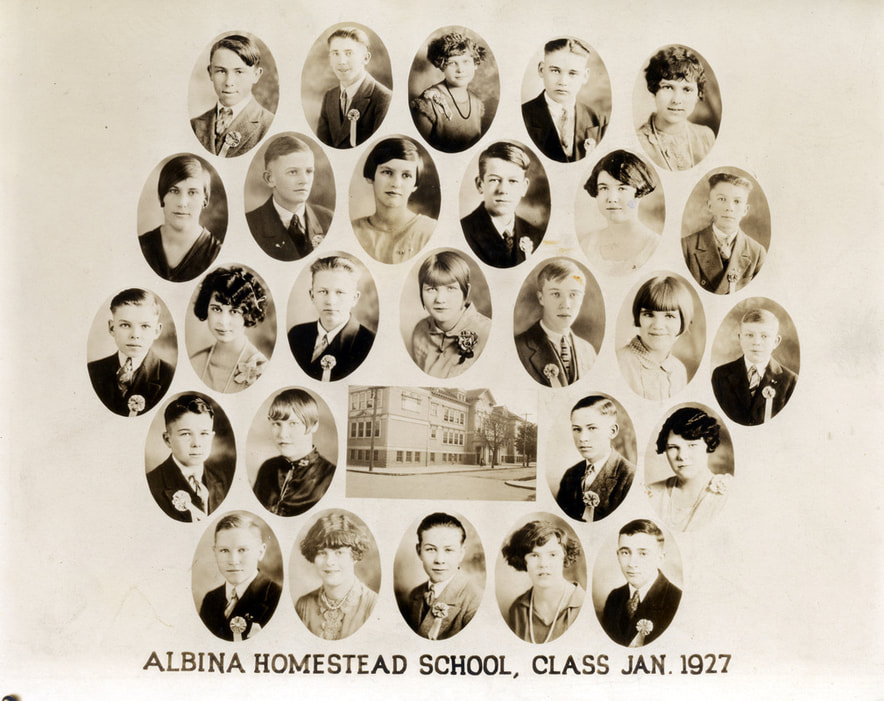 Albina Homestead School Class of January 1927