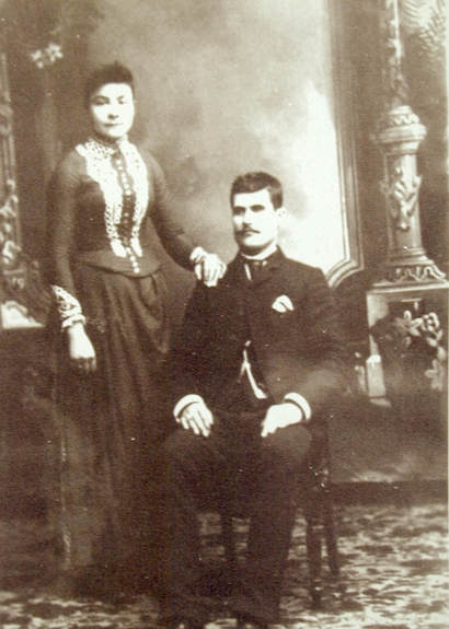 Wedding portrait of John Dick and Barbara Vogt