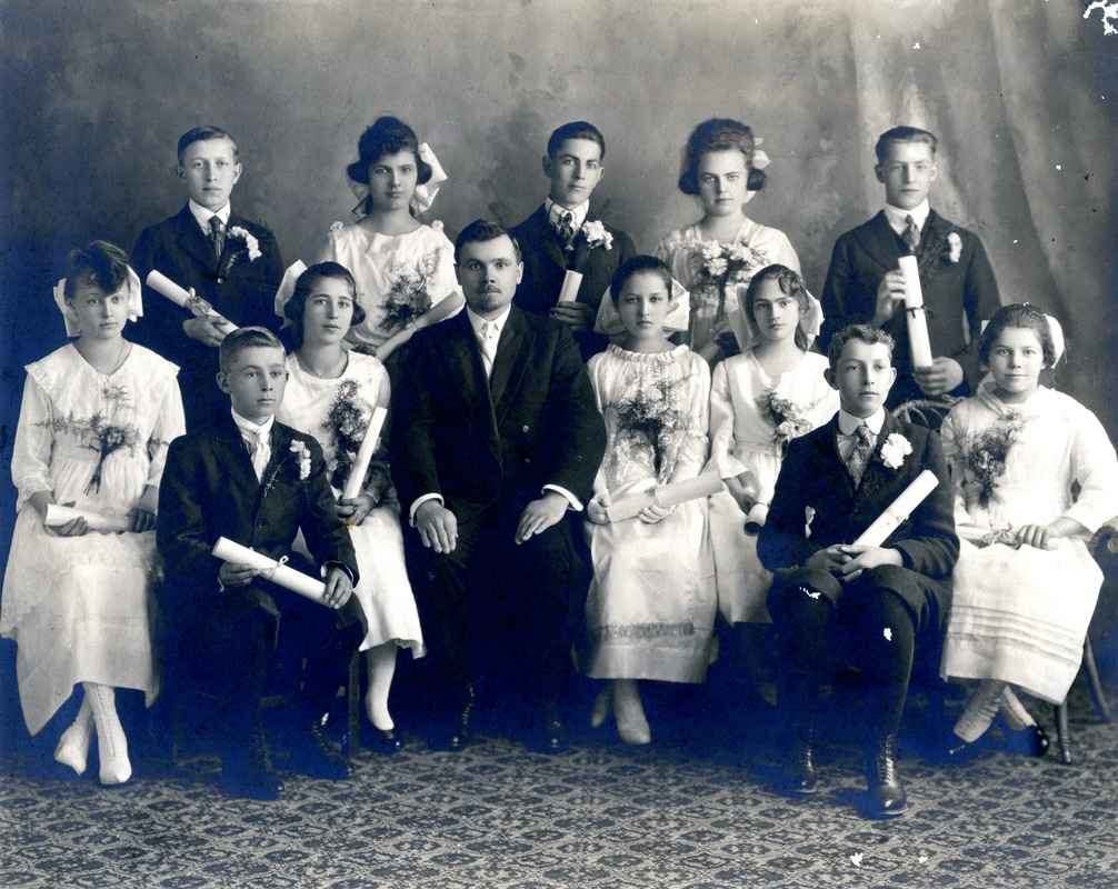 Second German Congregational Church Confirmation Class of April 13, 1919