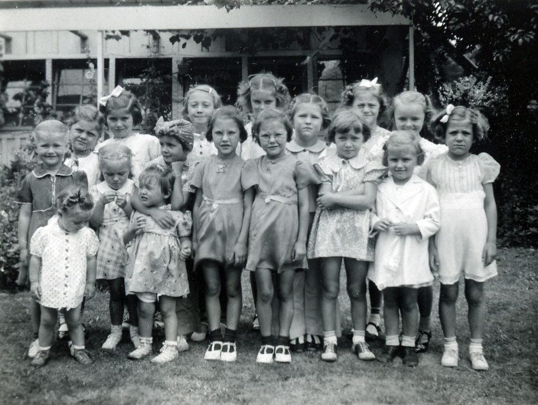 Second German Church Sunday School Class in 1940 or 1941
