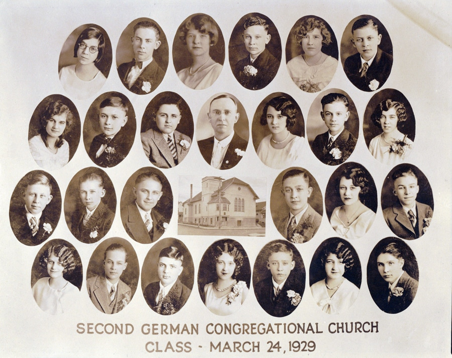 Second German Congregational Church Confirmation Class of 1929