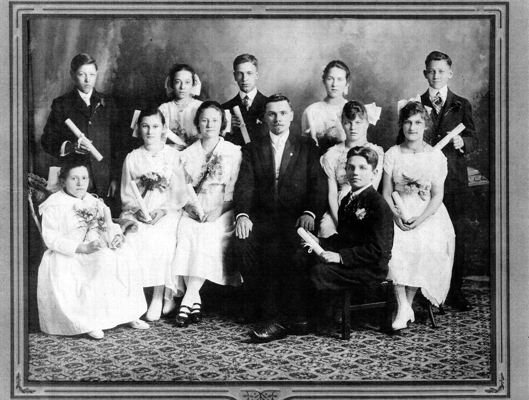 Second German Congregational Church Confirmation Class of April 1, 1917