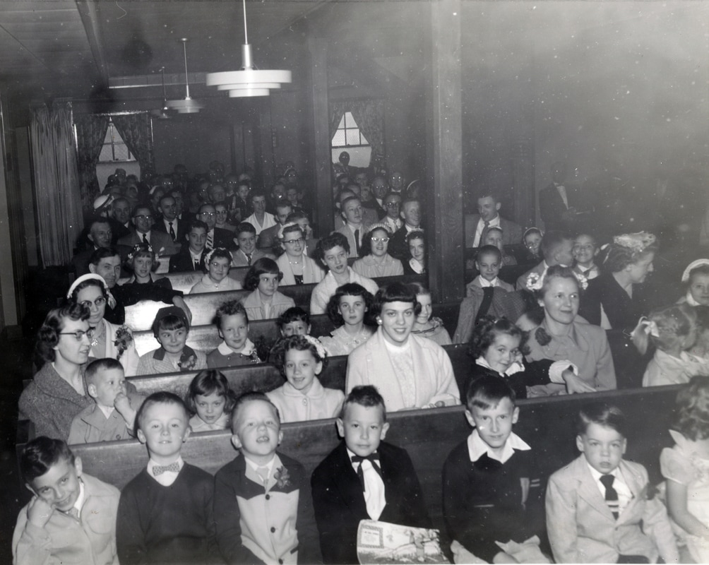 Second German Church Sunday School Class in 1953